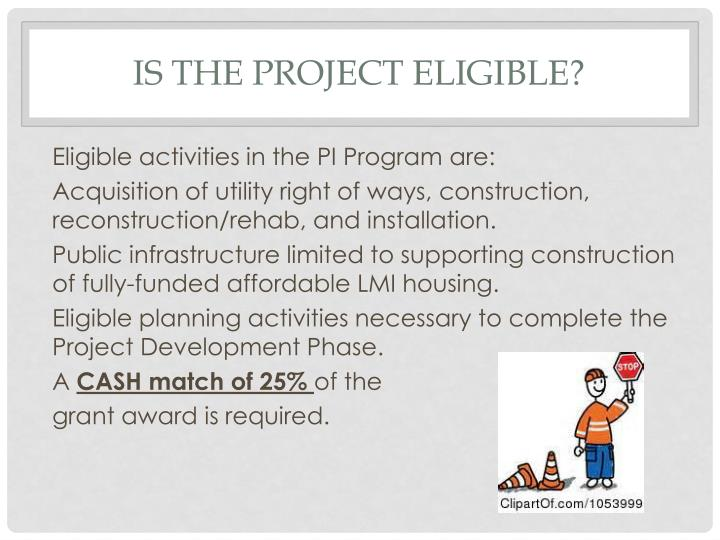 Is the project eligible?