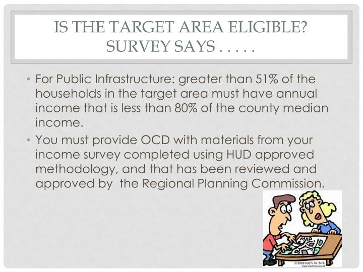 Is the target area eligible?