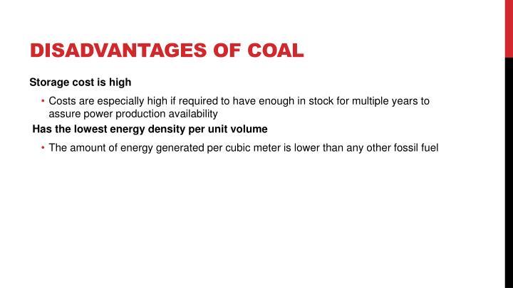 Disadvantages of coal