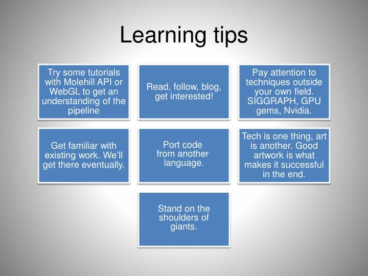 Learning tips