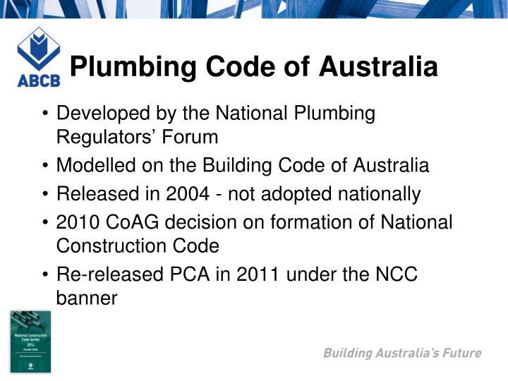 Plumbing Code of Australia