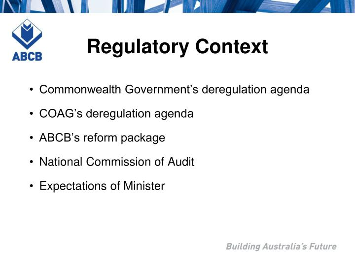 Regulatory Context