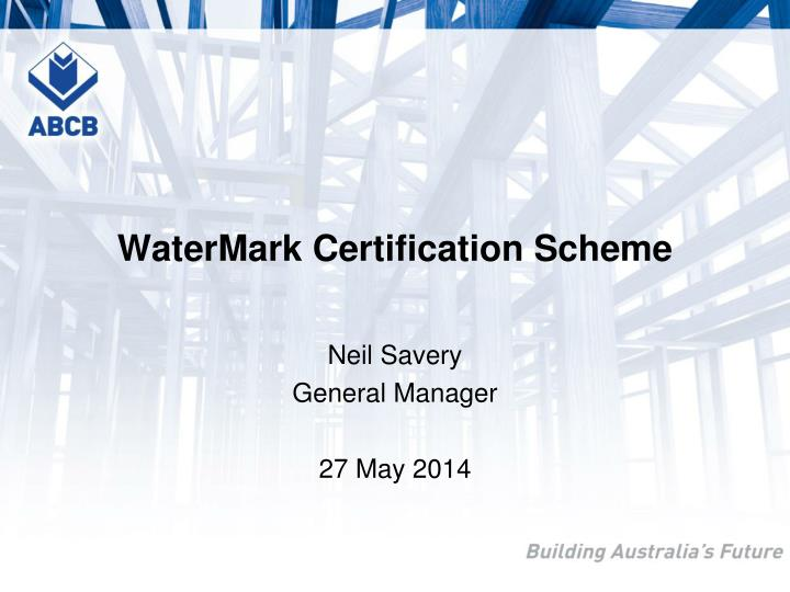 Watermark certification scheme