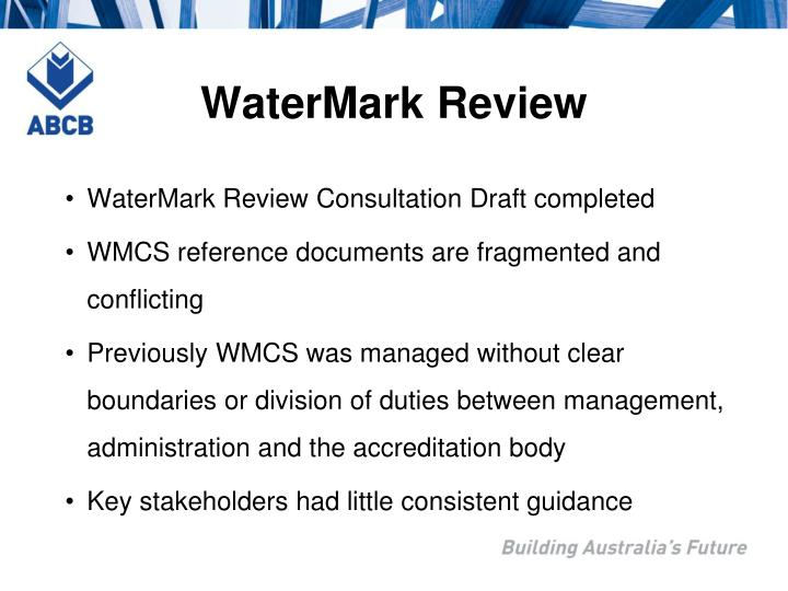 WaterMark Review