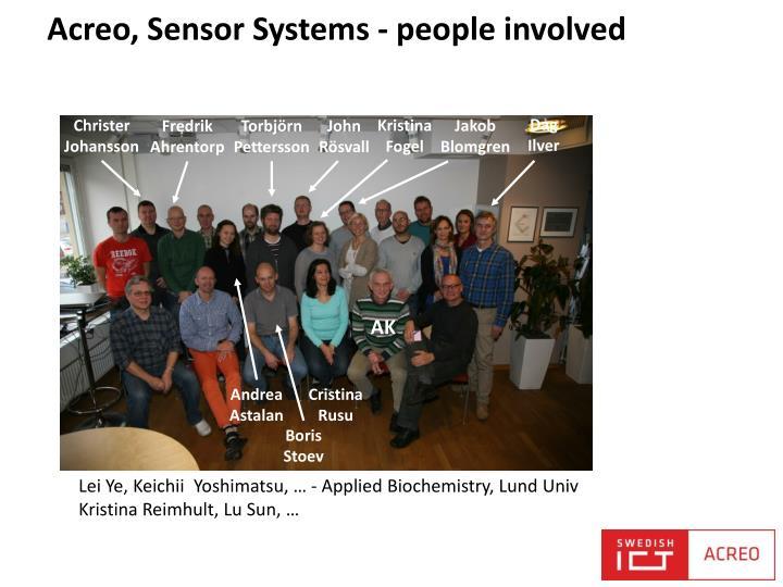 Acreo, Sensor Systems -