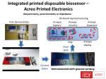 integrated printed disposable biosensor acreo printed e lectronics