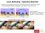 local biofouling c apacitive detection