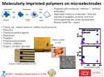 molecularly imprinted polymers on microelectrodes