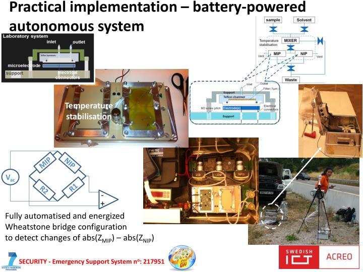Practical implementation –
