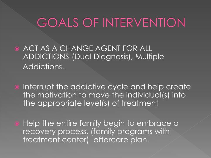 GOALS OF INTERVENTION