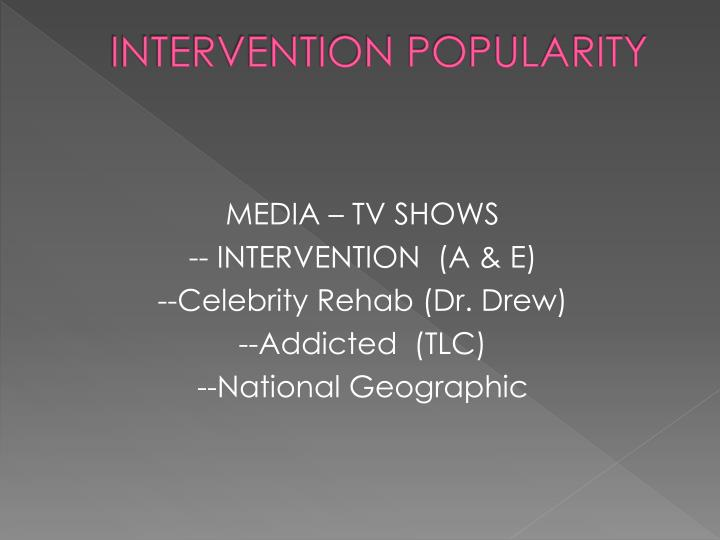 INTERVENTION POPULARITY