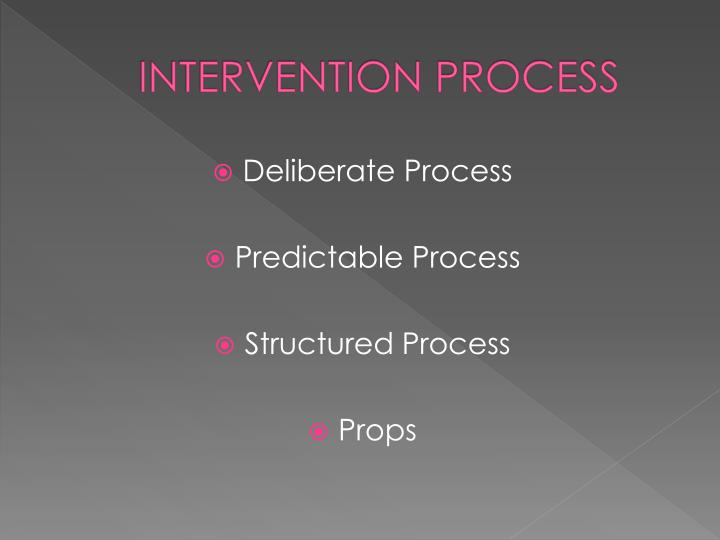 INTERVENTION PROCESS