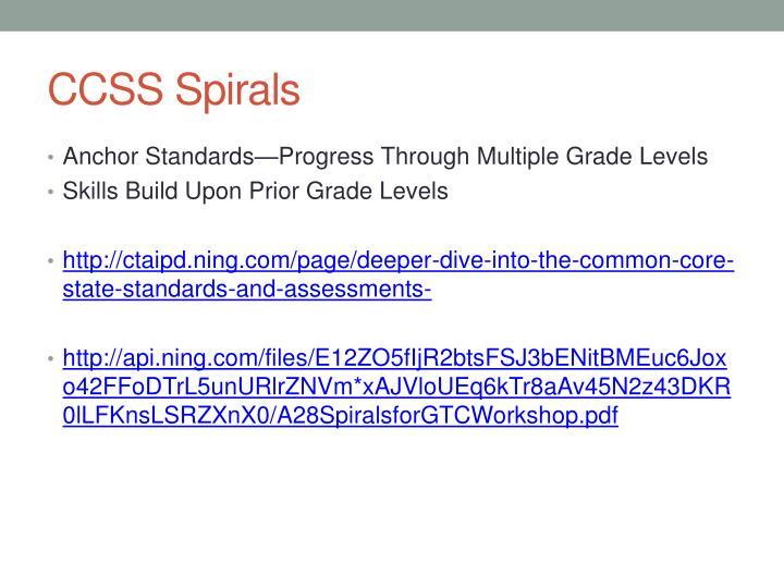 CCSS Spirals