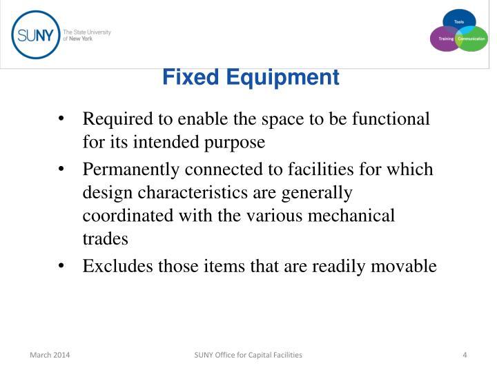 Fixed Equipment
