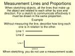 measurement lines and proportions