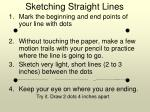 sketching straight lines