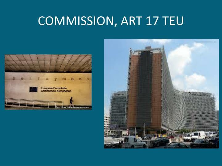 COMMISSION, ART 17 TEU
