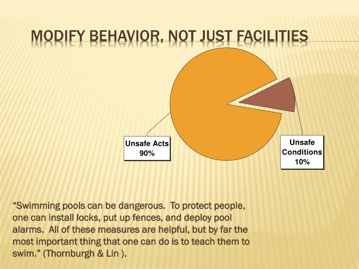 Modify behavior, not just facilities