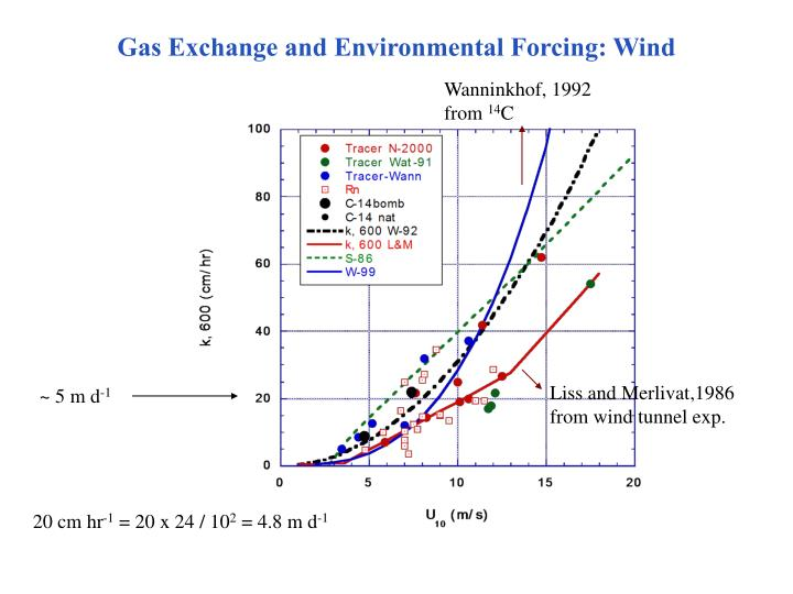 Gas Exchange and Environmental Forcing: Wind