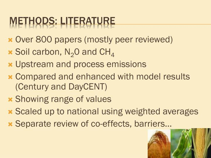 Over 800 papers (mostly peer reviewed)
