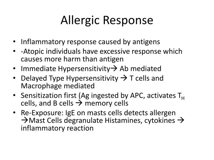 Allergic Response