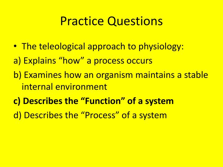 Practice Questions