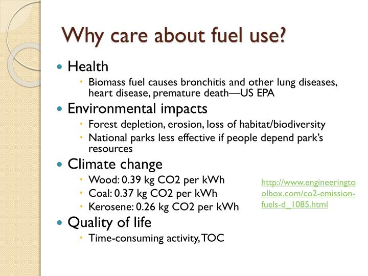 Why care about fuel use