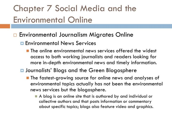 Chapter 7 Social Media and the Environmental Online