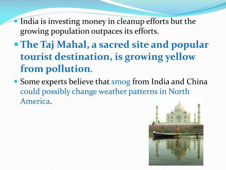 India is investing money in cleanup efforts but the growing population outpaces its efforts.