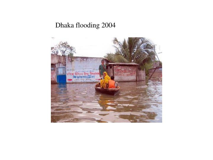 Dhaka flooding 2004
