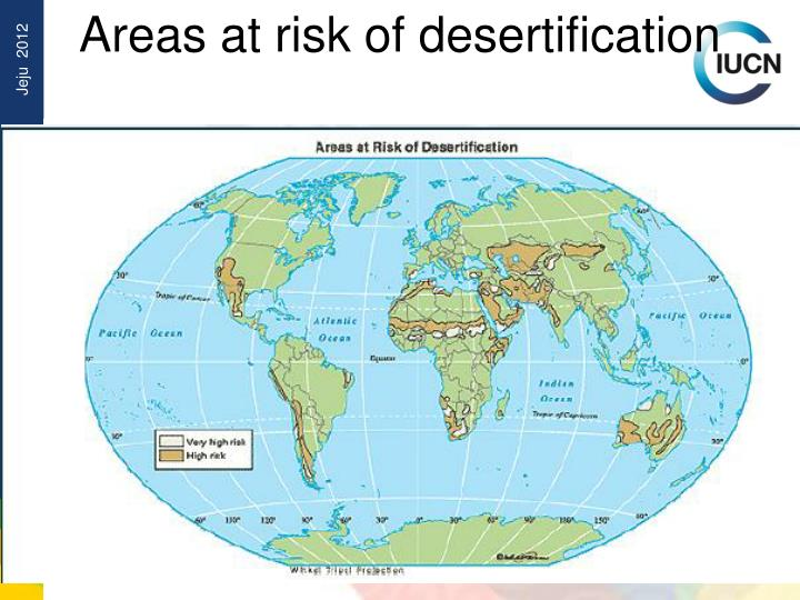 Areas at risk of desertification