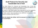 draft protocol for security and sustainable use of soil
