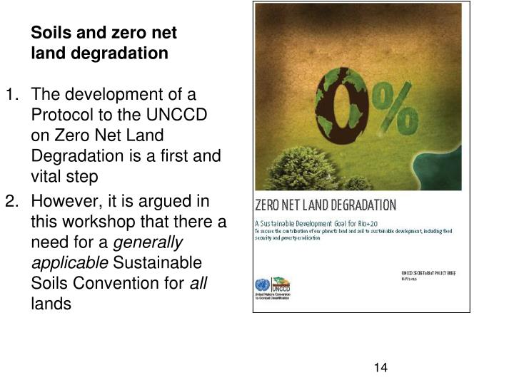 Soils and zero net land degradation