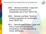 three key iucn environmental policy and law publications