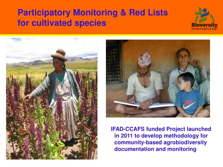 Participatory Monitoring & Red Lists for cultivated species