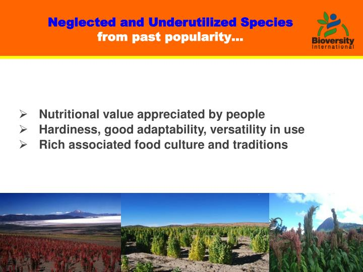 Neglected and Underutilized Species