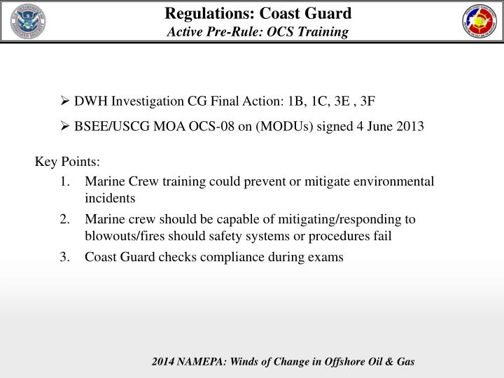 Regulations: Coast Guard