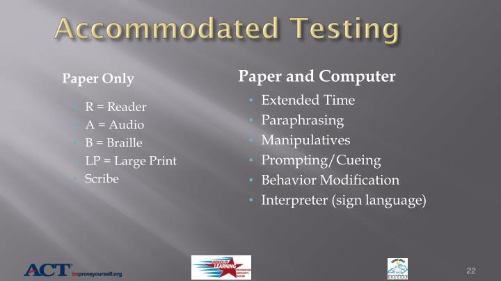 Accommodated Testing