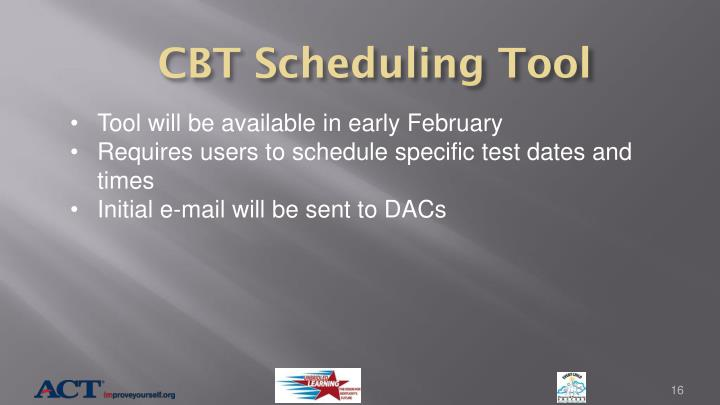 CBT Scheduling Tool