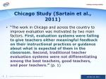 chicago study sartain et al 2011