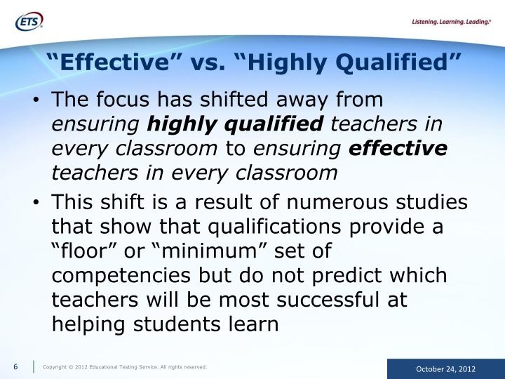 """Effective"" vs. ""Highly Qualified"""