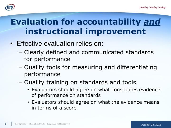 Evaluation for accountability