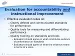 evaluation for accountability and instructional improvement