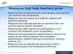 measures that help teachers grow