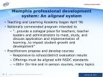 memphis professional development system an aligned system
