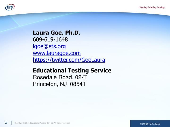 Laura Goe, Ph.D.