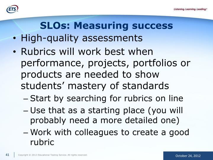 SLOs: Measuring success
