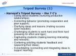 tripod survey 1