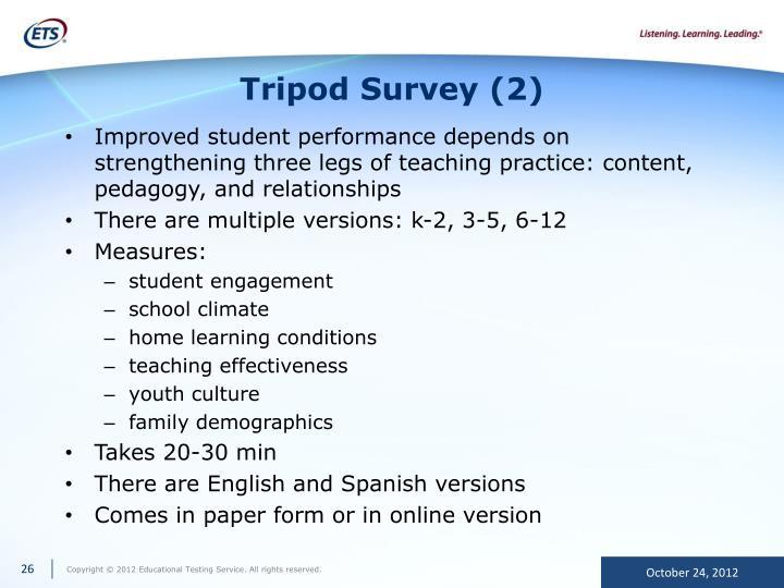 Tripod Survey (2)