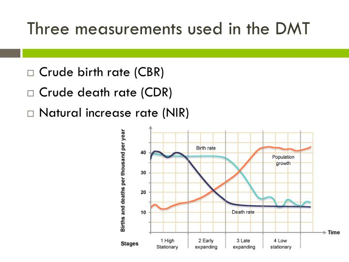 Three measurements used in the DMT